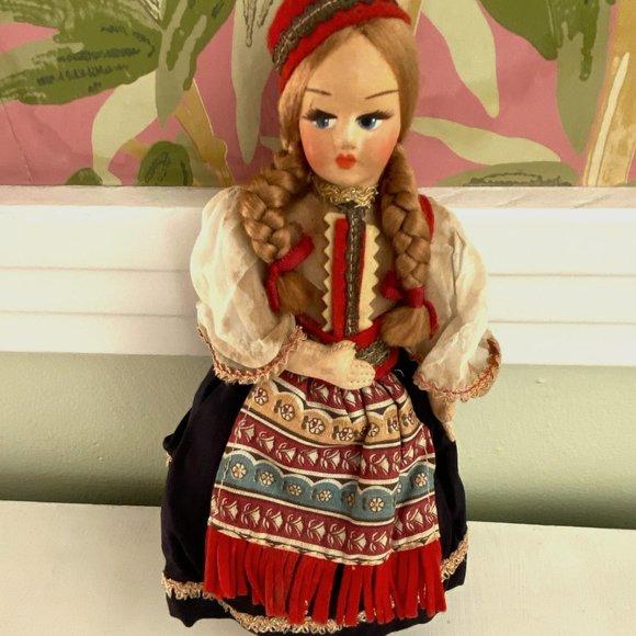 Vintage Eros Miniture Eastern European Doll